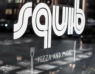 Squib (pizza and more), branding design