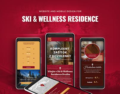 Website & Mobile design for Ski and Wellness Residence