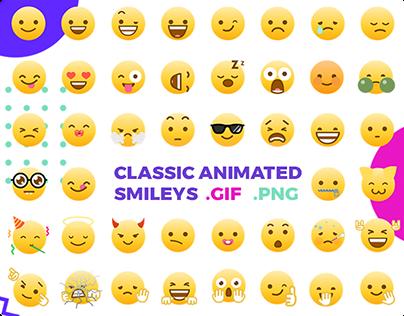 Classic Animated Emoji / Smileys / GIF / PNG