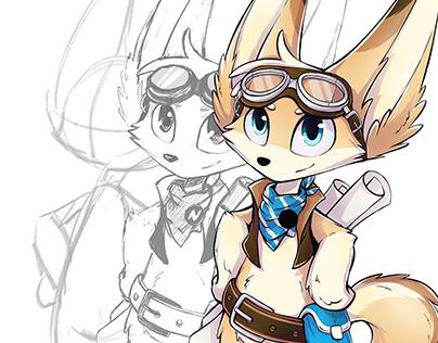 Character design - Fennec fox 'Nani'