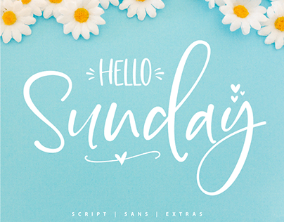 Big Discount Hello Sunday Font Duo & Extras
