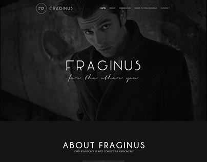 Fraginus Fashion Website PSD Template
