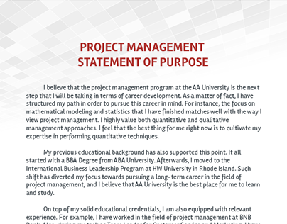 statement of purpose for management studies Conflict management  the purpose with this thesis is to compare and link theoretical models and hypotheses  case studies within this area.