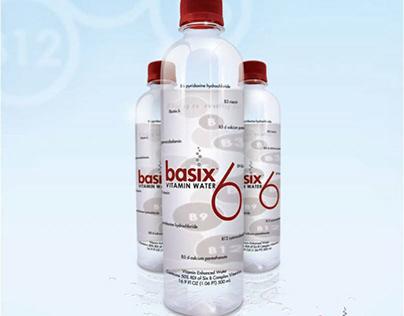 Basix Vitamin Water logo, label, graphic design (2006)