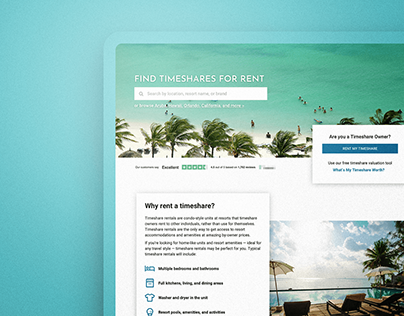 Timeshares Site - Web Design