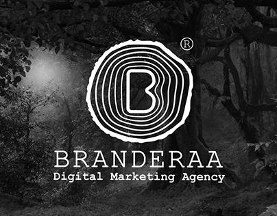 BRANDERAA digital marketing & social media Logo Design