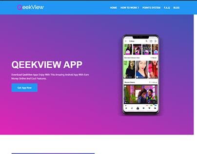 Qeekview Landing Page