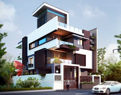 Modern Bungalow Rendering By 3D Power