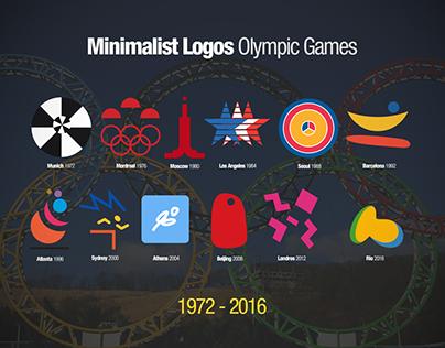 Minimalist Logos Olympic Games 1972-2016