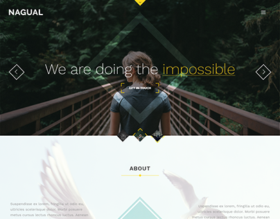 Nagual - Creative Personal/Agency Portfolio HTML Templa