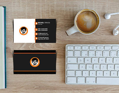 Free Business Card Mockup - 010