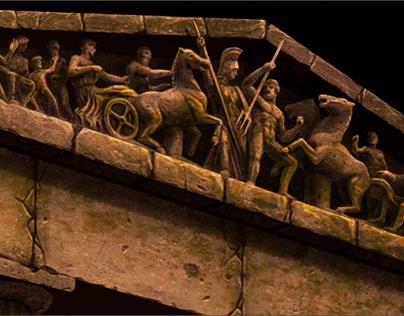 """2D illustration """"Athens"""" Wacom & PS6"""