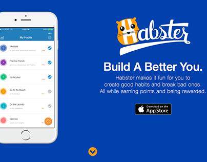 Habster App Landing Page
