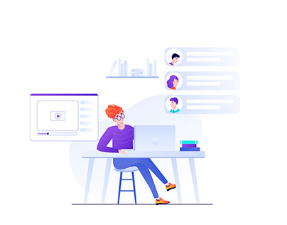Flat design. Illustrations for website