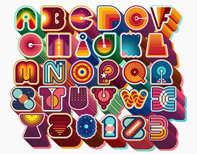 The Cosmic Alphabet · 36 Days of Type