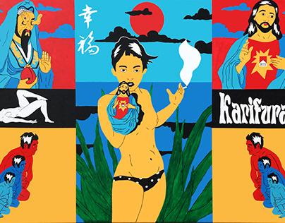 "Karifurava ""JezusMaria"" 2020 Acrylic Painting 100x160"