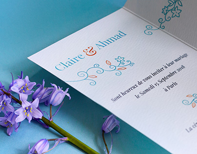 Claire & Ahmad Wedding Stationery