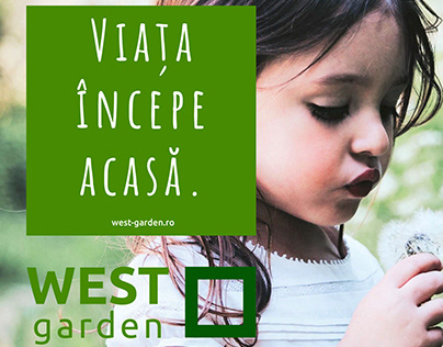 West Garden - visual identity for a residential project