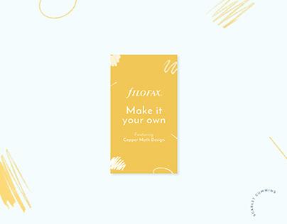 Filofax - 'Make it your own' campaign