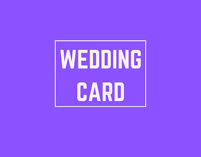 Indian Custom wedding card project