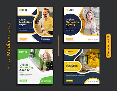 Digital marketing social media post banner design