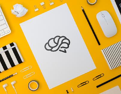 Brain Workout - minimal Logo design