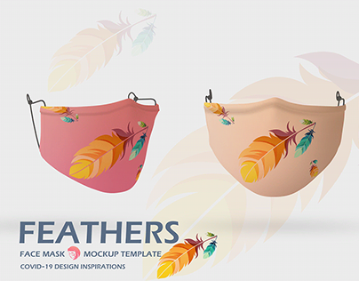 Feathers Face Mask For Her