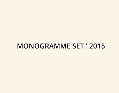 Monogramme Set ' 2015