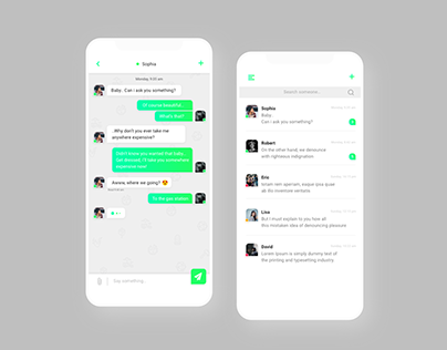 UI Design - Chat app