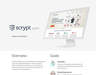Scrypt Website Redesign
