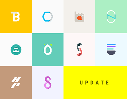Flat logos - 10 year aniversary