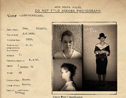 Fiche criminelle 1920 - PHOTOMONTAGE
