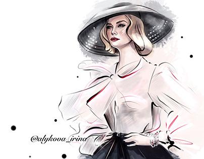 Fashion-иллюстрации, скетчи.