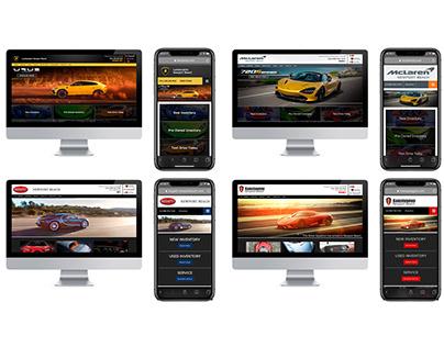 Exotic Dealership Group Website Design