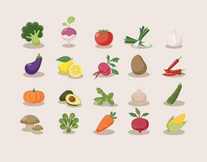 (FREE!!) Vegetable Icons
