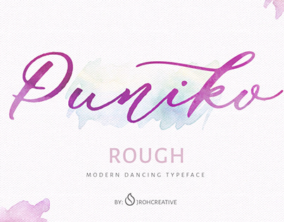 Puniko Rough Modern Dancing Typeface