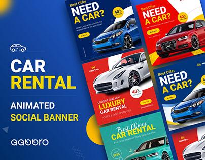 Rent a car Animated Social Media Banner