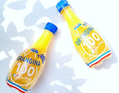 Orangina 100, 100% juice with soda