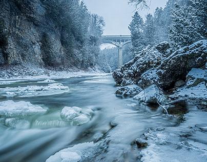 Winter in Elora Gorge