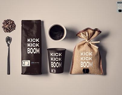 KICK KICK BOOM Coffee Packaging | Design and Branding