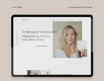 Personal stylist - portfolio page design