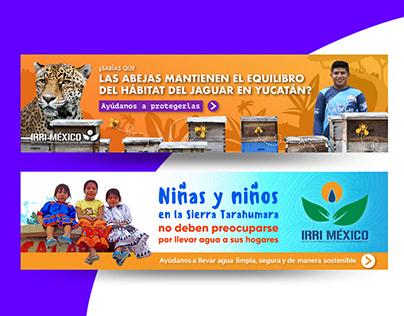 Banners web para incentivar la donación