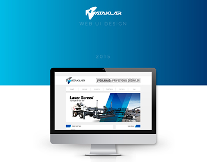 Ataklar Construction Web UI Design