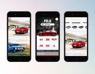 Toyota Pocket Source App >> Brent Stewart On Behance