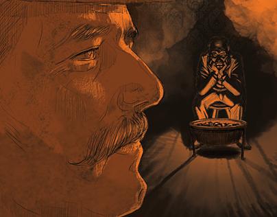 Editorial Illustrations for Sherlock Holmes Book