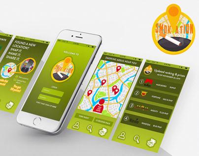 Smokation: App Prototypes & Logo