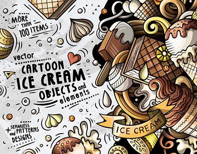 Ice Cream Cartoon Vector Pack