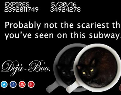 8 O'Clock Coffee Halloween Metrocard Placement