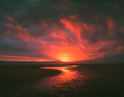 Sunset At Harlech Beach (Snowdonia, North Wales)