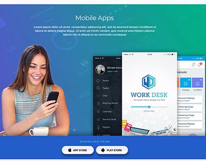 Work Desk Landing Page Design